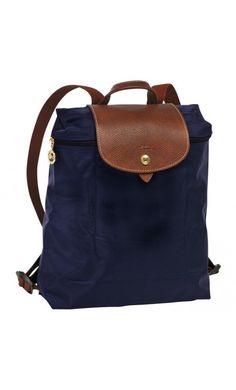 Longchamp Le Pliage Backpack Navy #bag #travel #vogue