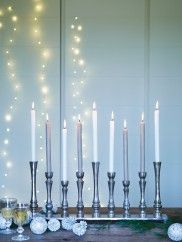 Aged Linear Candelabra NEW