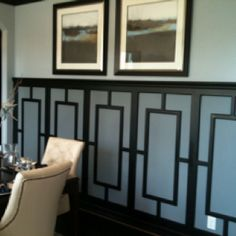love THIS Wainscoting!!! Although Jeffrey would never commit to making this pattern - too 70's