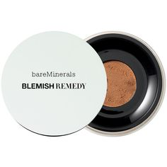 bareMinerals Blemish Remedy Foundation, Clearly Amber 10 0.21 oz (6.21... ($20) ❤ liked on Polyvore featuring beauty products, makeup, face makeup, foundation, powder foundation, mineral powder foundation, bare escentuals foundation, hydrating powder foundation and moisturizing foundation