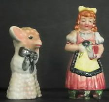 VINTAGE SALT & PEPPER SHAKERS MARY HAD A LITTLE LAMB 5480Q