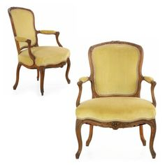 Pair-of-French-Louis-XV-Period-Beechwood-Fauteuil-Arm-Chairs-Late-18th-Century