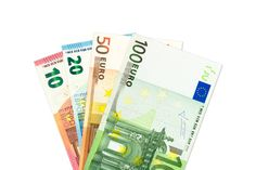 some euro bank notes