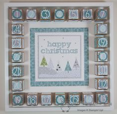 The Crafty Owl's Blog   Joanne James <br />Independent Stampin' Up! Demonstrator -- <a href=mailto:joanne@thecraftyowl.co.uk>joanne@thecraftyowl.co.uk</a> - SU - Advent Calendar - Perfect Print Numbers - punches