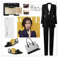 """""""Untitled #50"""" by orly-mandelbaum ❤ liked on Polyvore featuring Balmain, Alexander McQueen, Marni, Nine West, Topshop, NARS Cosmetics and Stila"""
