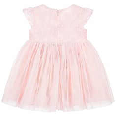 Le Chic - Baby Girls Embroidered Pink Tulle Dress | Childrensalon