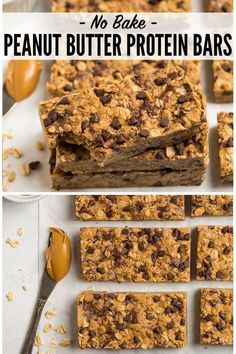 and chewy homemade Peanut Butter Protein Bars with simple ingredients like ., Soft and chewy homemade Peanut Butter Protein Bars with simple ingredients like ., Soft and chewy homemade Peanut Butter Protein Bars with simple ingredients like . Healthy Protein Snacks, Protein Bar Recipes, Healthy Desserts, Gourmet Recipes, Snack Recipes, Homemade Protein Bars, Clean Protein Bars, Homemade Granola Bars, Protein Foods