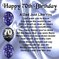 70th Birthday Poems