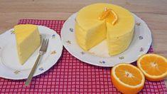 Sponge cake s pomarančovou šťavou , fotopostupy Orange Sponge Cake, Pudding, Eggs, Desserts, Treats, Sweet, Tailgate Desserts, Sweet Like Candy, Candy
