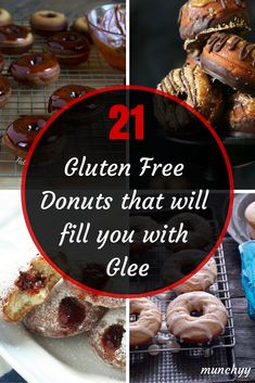 Here are some incredibly delicious gluten free donut recipes that will immediately fill you with glee. The first one is too delicious to miss. Gluten Free Doughnuts, Gluten Free Sweets, Gluten Free Cooking, Paleo, Sin Gluten, Allergy Free Recipes, Gf Recipes, Donut Recipes, Sem Lactose