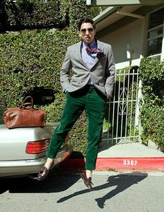 *Love* Mr. Castleberry! (and those green cords paired with no socks and tassle loafers!)
