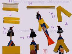 Instrucciones Muñeca número 04 - Para poner los palillos
