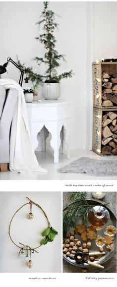 White walls for Christmas.  Because green on white is heavenly.