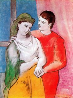 "Picasso ""The Lovers""  I like the simplicity of line and the colors."