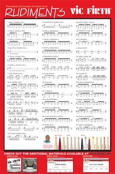 vic firth rudiments - Google Search