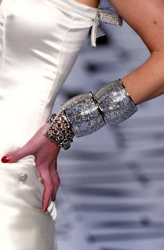 glitter glam accessories | Jewelry Detail - Valentino - Fall/Winter 2004  | Keep the Glamour | BeStayBeautiful