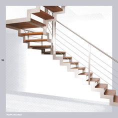 Floating staircase for foyer