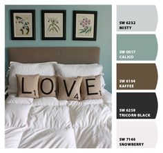 """Used """"Chip It"""" Sherwin-Williams to discover the colors from this picture that match their paint colors"""