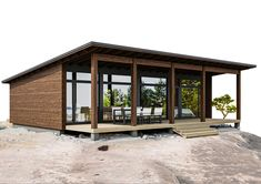 Tiny House Loft, Modern Tiny House, Modern House Design, Small Dream Homes, Humble House, One Storey House, Glass Cabin, Small House Floor Plans, House Construction Plan