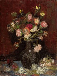 Vincent van Gogh Vase with Asters & Phlox 1886