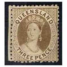 British colonies, Australia and Oceania - Queensland. **-postage stamp mint, without a trace of a stamp hinge catalog Michel No. Federation Of Australia, Vintage Stamps, Queen Victoria, Ephemera, Colonial, Postcards, Stamping, Sydney, Coins