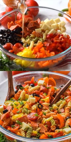 A simple Italian Pasta Salad that everyone will love! Full of flavor and easy to… A simple Italian Pasta Salad that everyone will love! Full of flavor and easy to make. Vegetarian Stew, Vegetarian Recipes, Healthy Recipes, Detox Recipes, Healthy Cooking, Cooking Recipes, Pasta Salat, Pasta Salad Italian, Pasta Salad Recipes