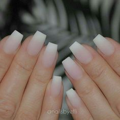 Matted french tip Nails