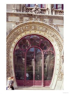 Detail of The Facade of The Railway Station of Rossio, Lisbon. Unknown photographer.