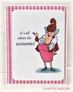 Art Impressions SC0652 Ai Crazy Cat Lady Michael's Hampton Art Ai Clear stamp sets crazy cat lady handmade card.