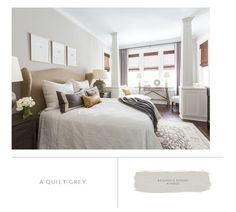 Marie Flanigan Interiors - 8 Bedroom paint colors to fit any mood - benjamin moore - nimbus Home Interior, Interior Design, Interior Ideas, Craftsman Style Bungalow, Layout, Bedroom Paint Colors, Lounge Decor, Cozy Bed, Galveston