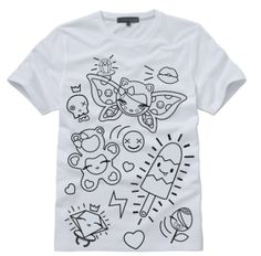Kids can color their own tee--and 100% goes to an arts charity for underserved kids. Love this.