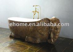 An elephant bath tub. Elephant Towel, Elephant Gun, Elephant Room, Elephant Home Decor, Elephant Jewelry, Elephant Stuff, Elephant Bathroom Decor, Elephant Curtains, Elephant Gifts