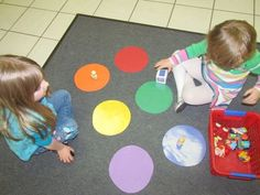 The color game in preschool | Color games and Candyland