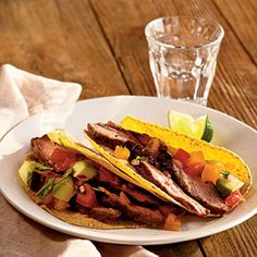 Grilled Flank Steak with Avocado and Two-Tomato Salsa Recipe by cooking light