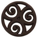 Barry Callebaut dark chocolate filigree: aztek