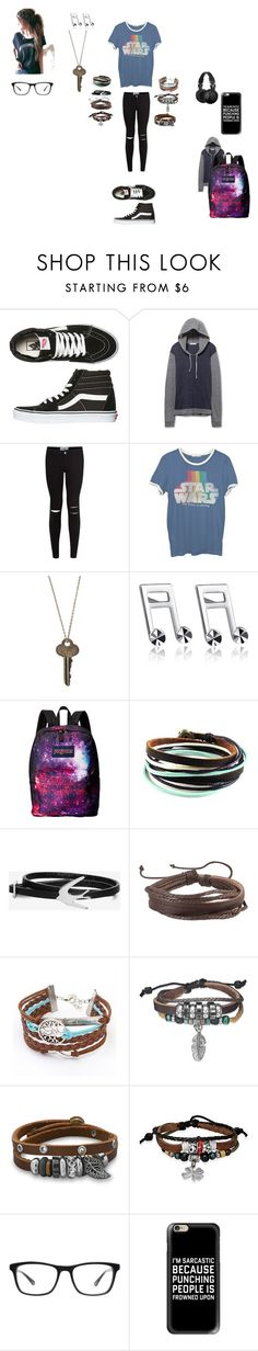 """""""Me"""" by kyle-tbc ❤ liked on Polyvore featuring Vans, New Look, Junk Food Clothing, The Giving Keys, MaBelle, JanSport, McQ by Alexander McQueen, Zodaca, Bling Jewelry and BillyTheTree"""