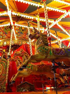 Carousel at Barkers Pool, Sheffield by Dilys Treacle Treasures, via Flickr Puppetry Theatre, Merry Go Round Carousel, All Ride, Happy City, Modern Dollhouse, Victorian Dollhouse, Amusement Park Rides, Carnival Rides, Painted Pony