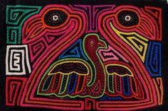 Kuna Indian Hand-Stitch Swan Lake Mola Art-Panama 16030412L