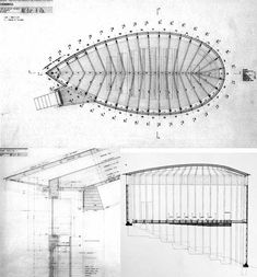 saint benedict chapel - sumvitig - peter zumthor - 1988 - plan + section + eave detail