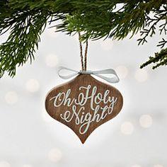 Metal Bow O Holy Night Ornament