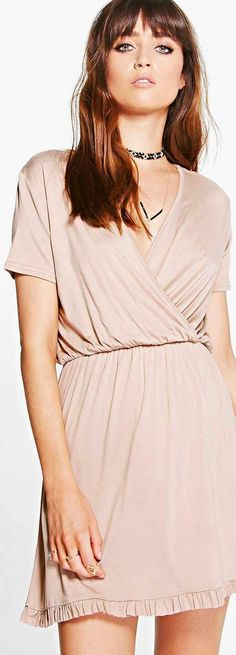 Harlow Wrap Front Ruffle Hem Skater Dress - Dresses  - Street Style, Fashion Looks And Outfit Ideas For Spring And Summer 2017