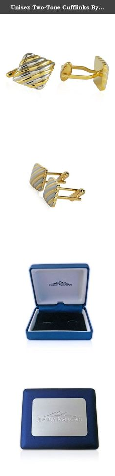 """Unisex Two-Tone Cufflinks By Jewelry Mountain. Unisex Two-Tone Cufflinks By Jewelry Mountain Jewelry Mountain Brand Makes a super quality gift. .88"""" x .75"""" ."""