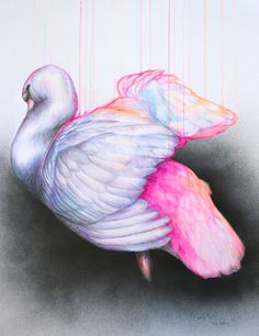 'Submerging Venus', spray paint, acrylic, ink and pencil on Bockingford paper, by Louise McNaught Beautiful Sketches, Adult Crafts, Creative Photography, Amazing Art, Awesome, Art Decor, Modern Art, Illustration Art, Watercolor
