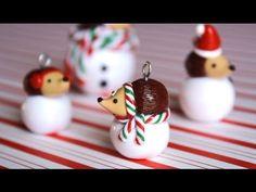 DIY Polymer Clay Hedgehog Snowball Tutorial
