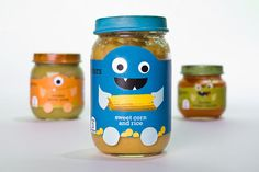 Little Monsters Baby Food Packaging on Behance