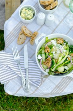 Melonen-Gurken-Salat mit einem Ciderdressing, Picknick Rezepte, Draußen essen Rezepte, Cider Rezept, Salat, Sommersalat Rezept