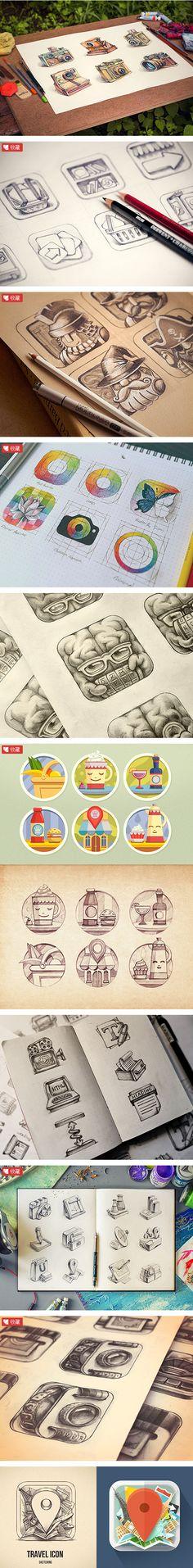 漂亮的手绘图标欣赏 - 素材中国16素材...