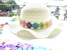 Flower lace trim Flower lace edging Embroidered flower