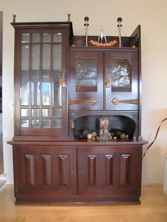 . Autumn, Fall, China Cabinet, Furniture, Home Decor, Homemade Home Decor, Home Furnishings, Decoration Home, Arredamento