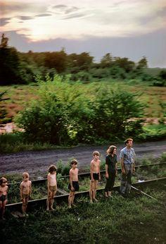 Magnum Photos - Paul Fusco - USA. Harmans, MD. 1968. Robert KENNEDY funeral train.